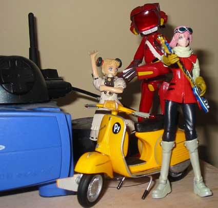 Haruko, Vespa, Canti and, um Alvis