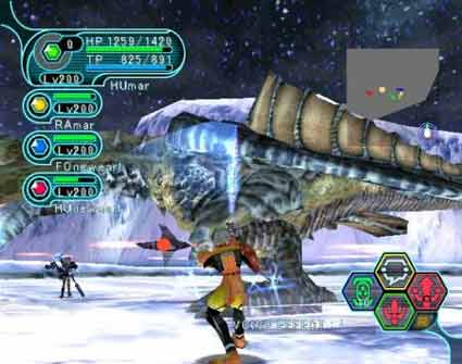 The party gangs on an ice dragon